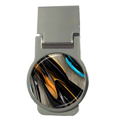 Abstract 3d Money Clips (round)  by Simbadda