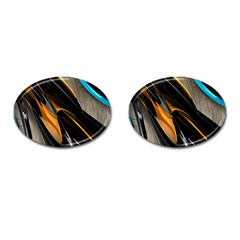 Abstract 3d Cufflinks (oval) by Simbadda
