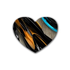 Abstract 3d Rubber Coaster (heart)  by Simbadda