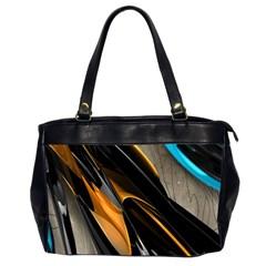 Abstract 3d Office Handbags (2 Sides)  by Simbadda