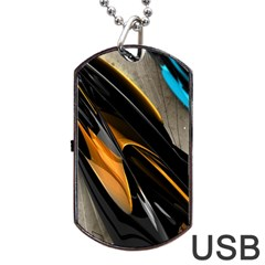 Abstract 3d Dog Tag Usb Flash (one Side) by Simbadda