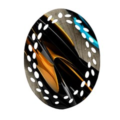 Abstract 3d Ornament (oval Filigree) by Simbadda