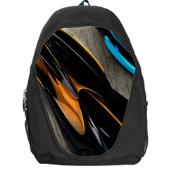 Abstract 3d Backpack Bag by Simbadda