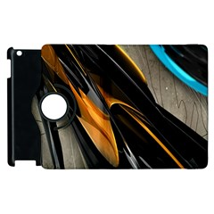 Abstract 3d Apple Ipad 3/4 Flip 360 Case by Simbadda