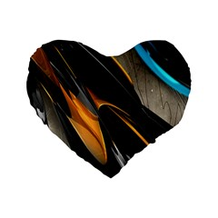 Abstract 3d Standard 16  Premium Heart Shape Cushions by Simbadda