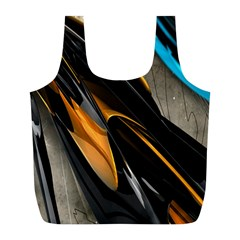 Abstract 3d Full Print Recycle Bags (l)  by Simbadda