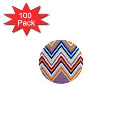 Chevron Wave Color Rainbow Triangle Waves Grey 1  Mini Magnets (100 Pack)  by Alisyart