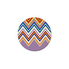Chevron Wave Color Rainbow Triangle Waves Grey Golf Ball Marker (10 Pack) by Alisyart