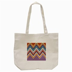 Chevron Wave Color Rainbow Triangle Waves Grey Tote Bag (cream) by Alisyart