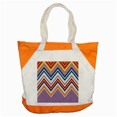 Chevron Wave Color Rainbow Triangle Waves Grey Accent Tote Bag by Alisyart