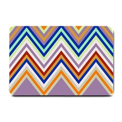 Chevron Wave Color Rainbow Triangle Waves Grey Small Doormat  by Alisyart