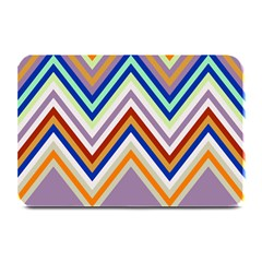 Chevron Wave Color Rainbow Triangle Waves Grey Plate Mats by Alisyart