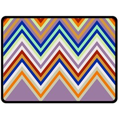 Chevron Wave Color Rainbow Triangle Waves Grey Fleece Blanket (large)  by Alisyart