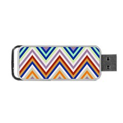 Chevron Wave Color Rainbow Triangle Waves Grey Portable Usb Flash (one Side) by Alisyart