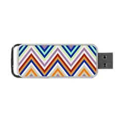 Chevron Wave Color Rainbow Triangle Waves Grey Portable Usb Flash (two Sides) by Alisyart
