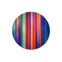 Texture Lines Vertical Lines Magnet 3  (round) by Simbadda