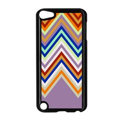 Chevron Wave Color Rainbow Triangle Waves Grey Apple Ipod Touch 5 Case (black) by Alisyart