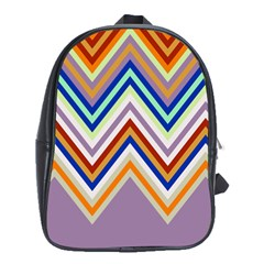 Chevron Wave Color Rainbow Triangle Waves Grey School Bags (xl)  by Alisyart