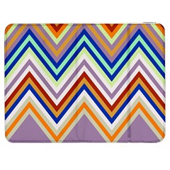 Chevron Wave Color Rainbow Triangle Waves Grey Samsung Galaxy Tab 7  P1000 Flip Case by Alisyart