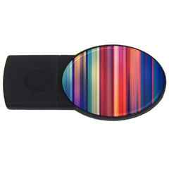 Texture Lines Vertical Lines Usb Flash Drive Oval (4 Gb) by Simbadda