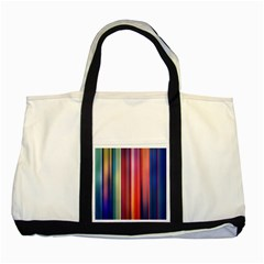 Texture Lines Vertical Lines Two Tone Tote Bag by Simbadda