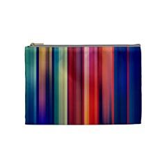 Texture Lines Vertical Lines Cosmetic Bag (medium)