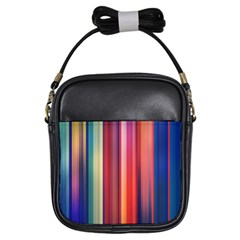 Texture Lines Vertical Lines Girls Sling Bags by Simbadda