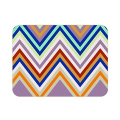 Chevron Wave Color Rainbow Triangle Waves Grey Double Sided Flano Blanket (mini)  by Alisyart