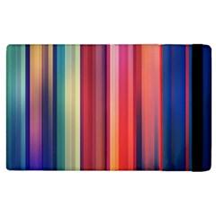 Texture Lines Vertical Lines Apple iPad 2 Flip Case by Simbadda