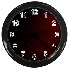 Abstract Dark Simple Red Wall Clocks (black) by Simbadda