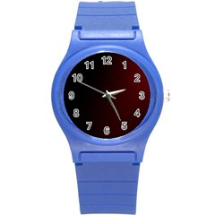 Abstract Dark Simple Red Round Plastic Sport Watch (s) by Simbadda