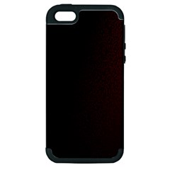Abstract Dark Simple Red Apple Iphone 5 Hardshell Case (pc+silicone) by Simbadda