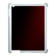 Abstract Dark Simple Red Apple Ipad 3/4 Case (white) by Simbadda