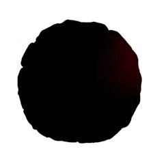 Abstract Dark Simple Red Standard 15  Premium Flano Round Cushions by Simbadda