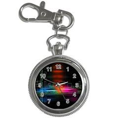 Abstract Binary Key Chain Watches by Simbadda