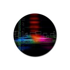 Abstract Binary Rubber Coaster (round)  by Simbadda