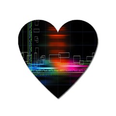Abstract Binary Heart Magnet by Simbadda