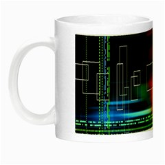 Abstract Binary Night Luminous Mugs