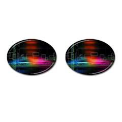 Abstract Binary Cufflinks (oval) by Simbadda