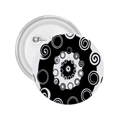 Fluctuation Hole Black White Circle 2 25  Buttons by Alisyart