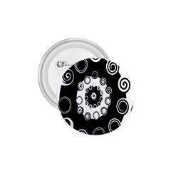 Fluctuation Hole Black White Circle 1 75  Buttons by Alisyart