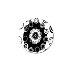 Fluctuation Hole Black White Circle Golf Ball Marker (4 Pack) by Alisyart