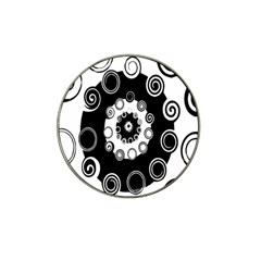 Fluctuation Hole Black White Circle Hat Clip Ball Marker by Alisyart
