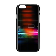 Abstract Binary Apple iPhone 6/6S Black Enamel Case