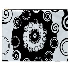Fluctuation Hole Black White Circle Cosmetic Bag (xxxl)  by Alisyart