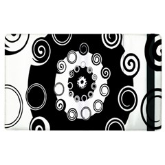 Fluctuation Hole Black White Circle Apple Ipad 3/4 Flip Case by Alisyart