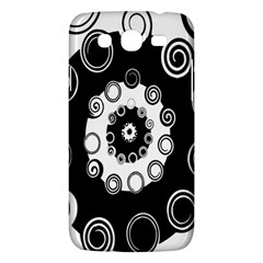 Fluctuation Hole Black White Circle Samsung Galaxy Mega 5 8 I9152 Hardshell Case  by Alisyart