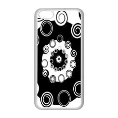 Fluctuation Hole Black White Circle Apple Iphone 5c Seamless Case (white) by Alisyart
