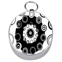 Fluctuation Hole Black White Circle Silver Compasses by Alisyart