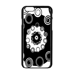 Fluctuation Hole Black White Circle Apple Iphone 6/6s Black Enamel Case by Alisyart